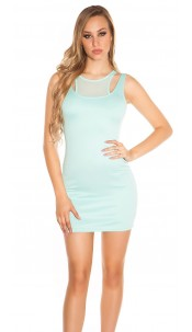 Sexy minidress 2in1-look Mint
