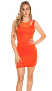 Sexy minidress 2in1-look Orange