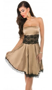 Sexy KouCla Party Bandeaudress with lace Champagne