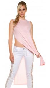 Sexy KouCla Maxi Long shirt with side slits Salmon