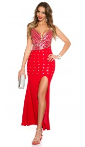 Red Carpet Look! Sexy KouCla dressw glitter stones Red