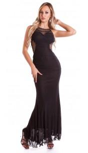 Red Carpet Look! Sexy KouCla dress w. mesh Black
