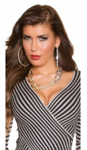 Trendy Statement necklace Bicolour