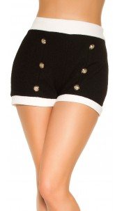 Sexy Bouclé Look Shorts Black