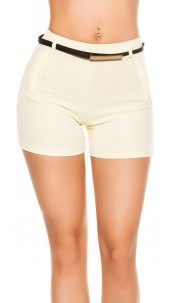 Sexy shorts with belt Yellow