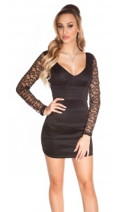 Sexy KouCla minidress with lace Black