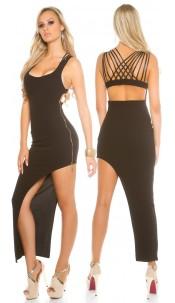 Partydress asymmetrical Black