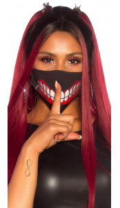 Cool washable Mask with Print Black