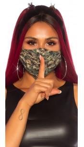 Trendy wasbaar gezicht mond masker Army camouflage