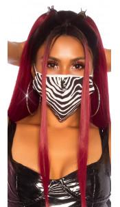 Trendy wasbaar gezicht mond masker met dieren-print