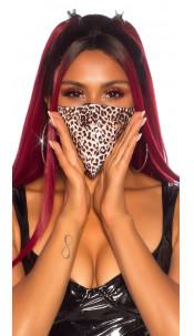Trendy wasbaar gezicht mond masker met dieren-print luipaard