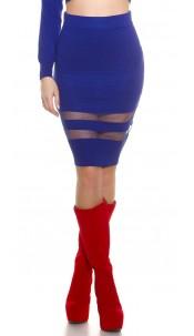 Sexy Koucla finednitted-highwaist-skirt,transpaten Royalblue
