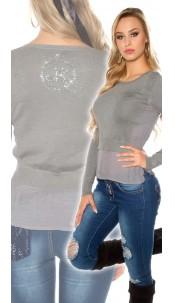 Sexy KouCla 2 in 1 sweater Grey