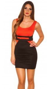 Sexy Minidress in businesslook with bow Orange