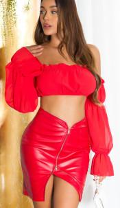 Sexy Latina Crop-Top Red