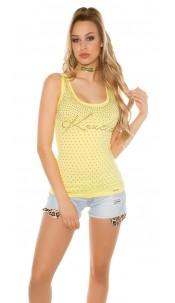 Sexy KouCla Top with studs Yellow