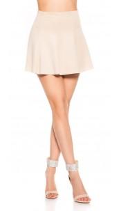 Sexy Miniskirt A--Cut Beige