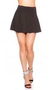 Sexy Miniskirt A--Cut Black