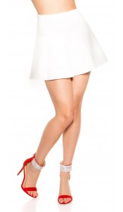 Sexy Miniskirt A--Cut White