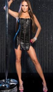 Sexy KouCla GoGo-minidress with metal-hooks Black