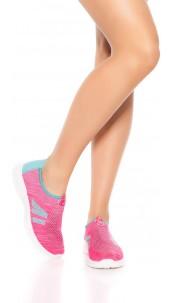 Sporty Slip-On Sneaker Fuchsia