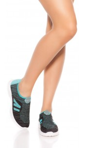Sporty Slip-On Sneaker Turquoise