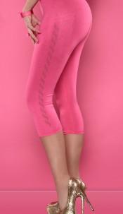 Sexy leggings with studs Fuchsia