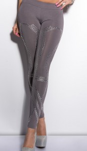 Sexy KouCla leggings with studs Grey