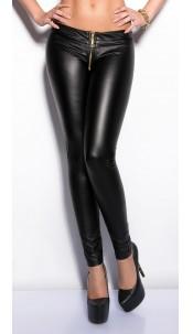Sexy KouCla leggings with zip Black