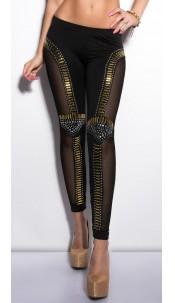 Sexy KouCla leggings with paddesign Black