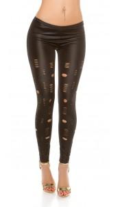 Sexy Leggings in Used Look Black