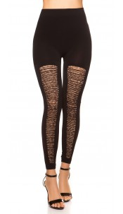 Sexy Leggings with cut-outs and leo Black