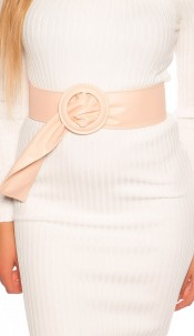 Trendy leatherette waist belt Pink