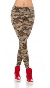 Trendy Camouflage look leggins Army