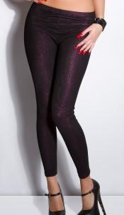 Sexy glitter leggings Blackviolet