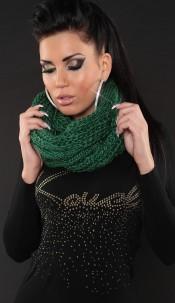 Trendy Loop knit-scarf Green