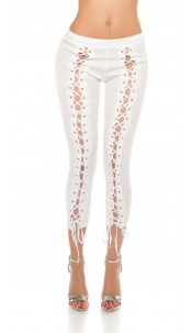 Sexy 7/8 Leggings laced White