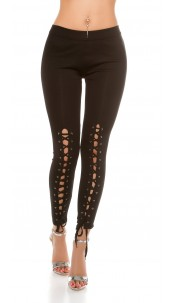 Sexy Leggings with lacing Black