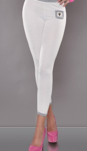Sexy 7/8 leggs with little pockets in front White