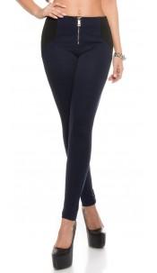 Sexy Highwaist leggings Shape look with Zip Navy