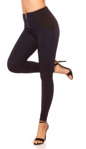 Sexy highwaist leggings in shapelook with zip Navy
