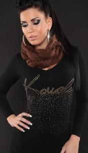 Trendy loop-scarf Brown