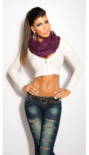 Sexy Loop-scarf with glitter Violet