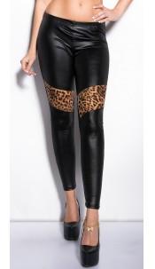 Sexy Wetlook Leggings with leodesign Black
