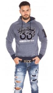 Trendy Men s Hooded Sweater