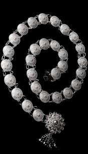 Trendy chain belt Greek style Silver