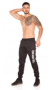 Trendy Mens Joggers with Print Black