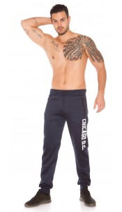 Trendy Mens Joggers with Print Navy