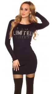 "Sexy knit mini dress ""I AM LIMITED EDITION"" Navy"