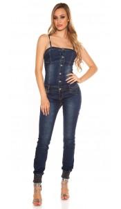 Sexy Jeans jumpsuit w. removeable straps Jeansblue